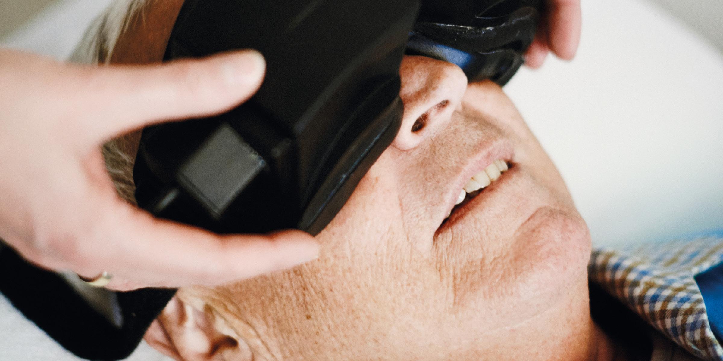 """Bei einer Schwindelsymptomatik führt die HNO Praxis Dr. Brigitte Krug eine so genannte """"Videonystagmographie"""" für ihre Patienten aus Weinheim und Umgebung - wie beispielsweise Birkenau, Hemsbach, Schriesheim, Heddesheim und Hirschberg - durch"""
